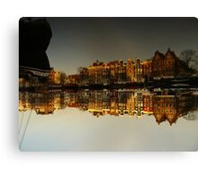 Reflections of Amsterdam - I love it Canvas Print