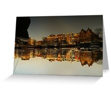 Reflections of Amsterdam - I love it Greeting Card