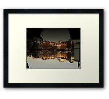 Reflections of Amsterdam - House Boats Framed Print