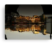 Reflections of Amsterdam - House Boats Canvas Print