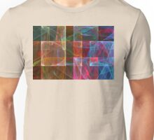 Abstract Checkered Pattern Fractal Flame Unisex T-Shirt