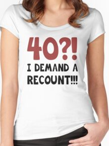 40th Birthday Gag Gift Women's Fitted Scoop T-Shirt