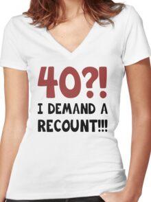 40th Birthday Gag Gift Women's Fitted V-Neck T-Shirt