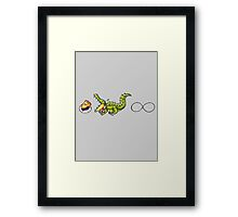 Pi is Greater than Infinity Framed Print