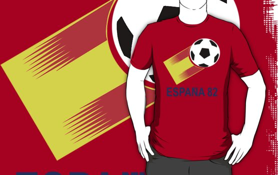 A Casual Classic iconic Espana 82 inspired t-shirt design  by Casual Classics