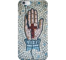 Ancient Mosaic Of A Hand And Crucifix iPhone Case/Skin