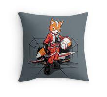 Rebel Fox Throw Pillow