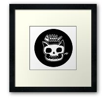 Cat Skull Framed Print