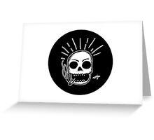 Smoking Skull Greeting Card