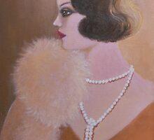 ELEGANT RETRO LADY by Dian Bernardo