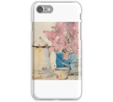 Early Morning Coffee in the Garden iPhone Case/Skin