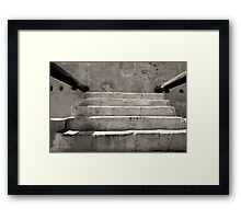 Steps at Tumacacori Framed Print