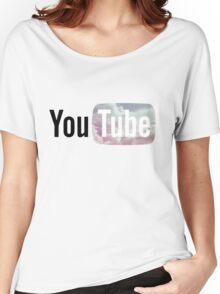 Pastel Sky YouTube Logo Women's Relaxed Fit T-Shirt