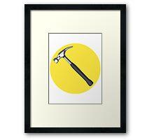 captain hammer symbol Framed Print