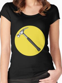 captain hammer symbol Women's Fitted Scoop T-Shirt