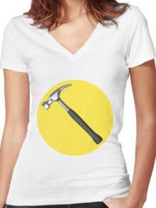 captain hammer symbol Women's Fitted V-Neck T-Shirt