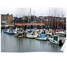 Boats - Scarborough Harbour Poster