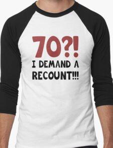 70th Birthday Gag Gift Men's Baseball ¾ T-Shirt