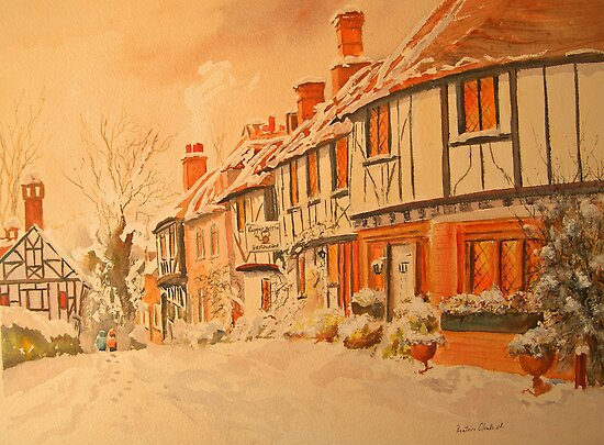 CHILHAM - Kent, Winter by Beatrice Cloake