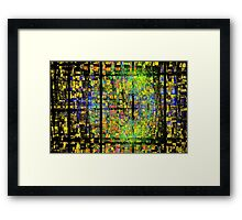 Colorful Psychedelic Abstract Fractal Art Framed Print