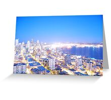 Seattle overexposed Greeting Card