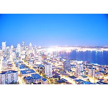 Seattle overexposed Photographic Print