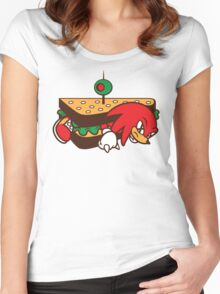 KNUCKLES SANDWICH Women's Fitted Scoop T-Shirt