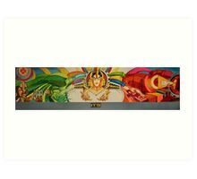 IMAGE FOR MURAL WITH COLOR TILES Art Print