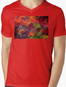 Colorful Psychedelic Abstract Fractal Art Mens V-Neck T-Shirt