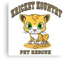 Kricket Kountry Pet Rescue Canvas Print