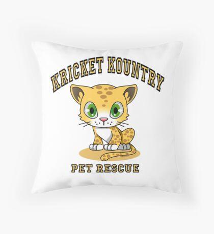 Kricket Kountry Pet Rescue Throw Pillow