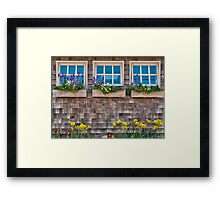 Windows with flowers Framed Print