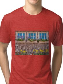 Windows with flowers Tri-blend T-Shirt