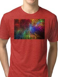 Colorful Psychedelic Abstract Fractal Art Tri-blend T-Shirt