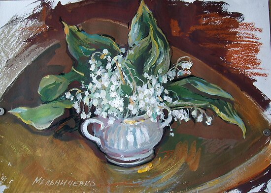 lily of the valley  by Alla Melnichenko