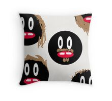 The Hairy Faces Throw Pillow