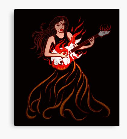Playing with fire Canvas Print