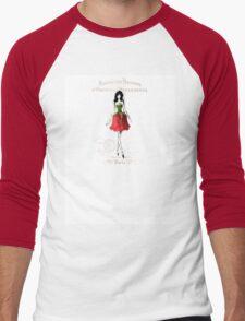 Lady in Red (Rose) Men's Baseball ¾ T-Shirt