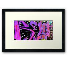 Street Art in Purple Framed Print