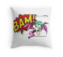 Danger! Morrigan Aensland Throw Pillow