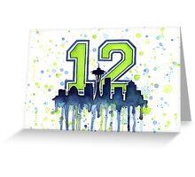 Seattle Seahawks 12th Man Fan Art Greeting Card