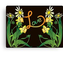 Daisies and daffodils Canvas Print