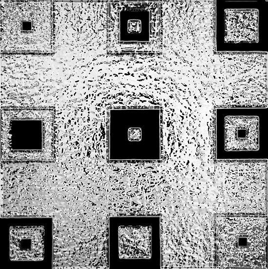 Nested Squares in Silver & Black by Igor Shrayer