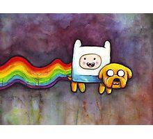 Nyan Time   Adventure Time Jake and Finn   Nyan Cat Photographic Print