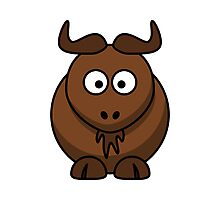 Cartoon Gnu Photographic Print
