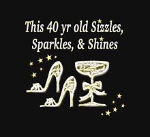 40TH BIRTHDAY GLAM GODDESS Womens Fitted T-Shirt