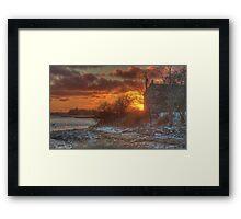 Sunset Over the Harbour Framed Print
