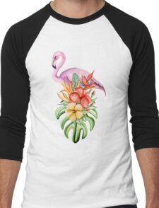 Flamingo Men's Baseball ¾ T-Shirt
