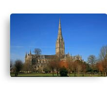 Down in the City of Salisbury Canvas Print