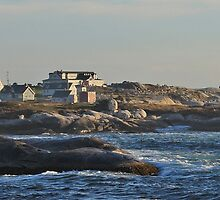 Peggy's Cove Panoramic 2 by Debbie  Roberts